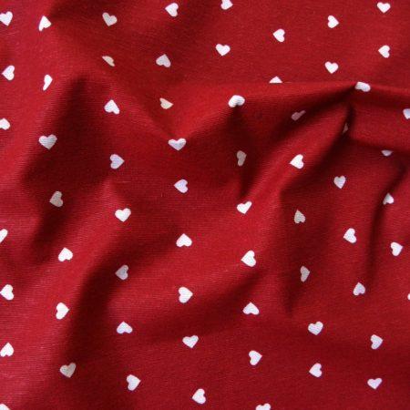 AMORE, apró szívecskés piros lakástextil dekorvászon