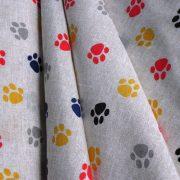 TAPPANCS, mancs mintás lakástextil, dekorvászon, piros-kék - 280 cm és 140 cm szélességben