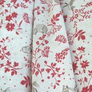 FOREST, növény, állat mintás lakástextil, dekorvászon, piros