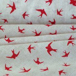 FECSKE mintás lakástextil, dekorvászon, piros