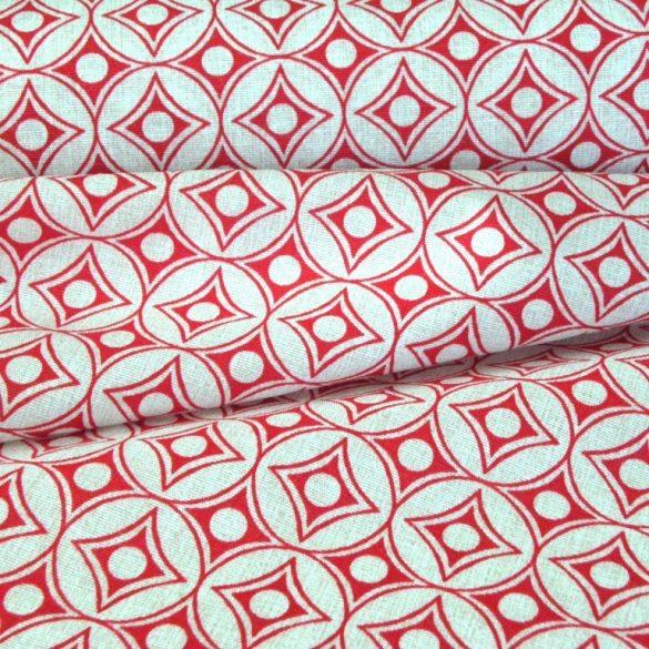 LIAM, geometrikus mintás lakástextil, dekorvászon, piros