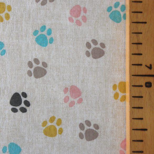 TAPPANCS, mancs mintás lakástextil, dekorvászon, türkiz-rózsaszín - 280 cm és 140 cm szélességben