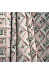 SCOY, négyzetes mintás lakástextil, dekorvászon, korallrózsaszín