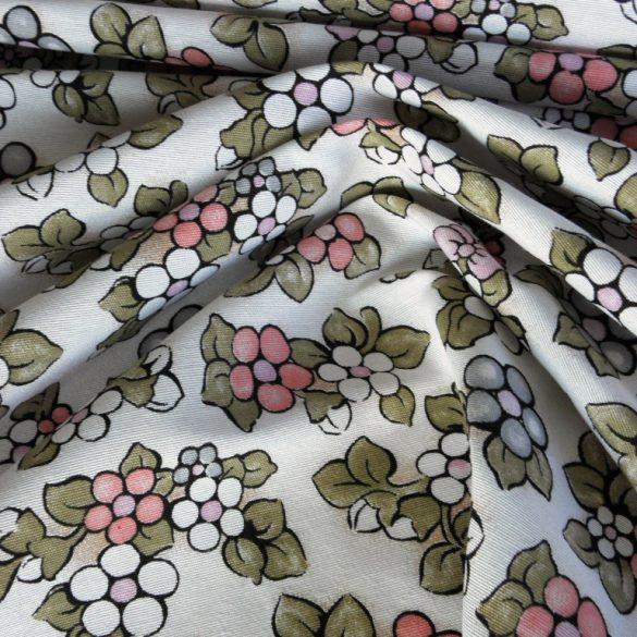 BOGI, rózsaszín virág mintás lakástextil dekorvászon