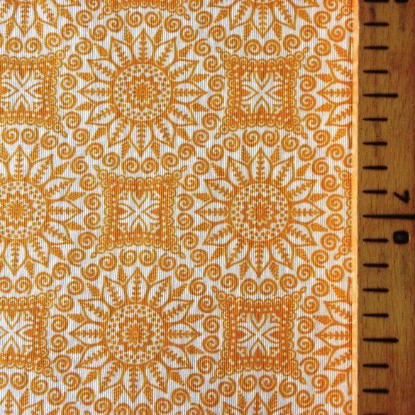 FUJI narancs körcsipke mintás spanyol lakástextil méteráru