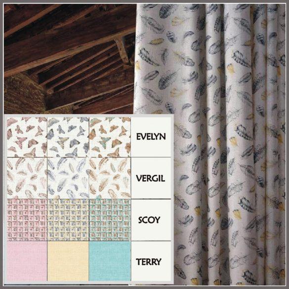 TERRY, egyszínű, raszteres lakástextil, dekorvászon, mézsárga
