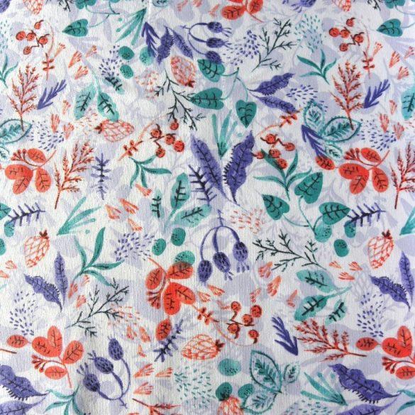 ADA, türkiz leveles lakástextil dekorvászon