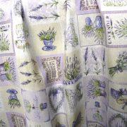 Lavande, patchwork levendulás lakástextil, dekorvászon