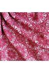 HALAS, csipkemintás lakástextil, dekorvászon, rubin. 140 cm és 280 cm széles