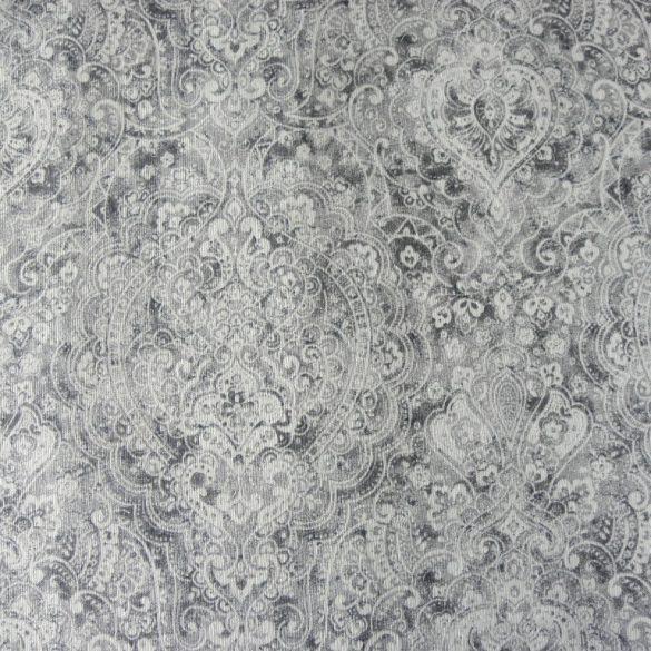 BOHEME, szürke, arabeszk mintás spanyol lakástextil, dekorvászon, 280 és 140 cm széles