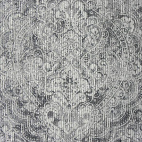 BOHEME, szürke, arabeszk mintás spanyol lakástextil, dekorvászon