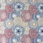 LORETTE, mandala, kör mintás spanyol lakástextil, dekorvászon