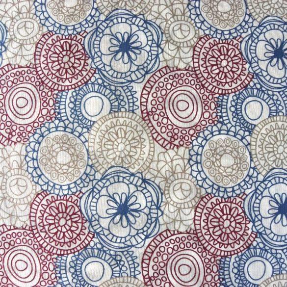 LORETTE, mandala, kör mintás spanyol lakástextil, dekorvászon, 280 és 140 cm széles