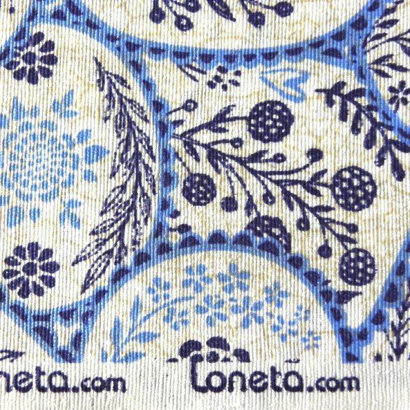 ONA, virágos, mézeskalács mintás spanyol lakástextil, dekorvászon