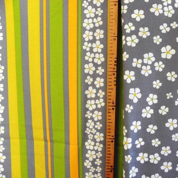 AGAVE, agavészürke virágos, spanyol lakástextil, 280 cm széles