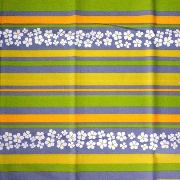 AGAVE, agavészürke csíkos, virágos, spanyol lakástextil, 140 cm és 280 cm széles