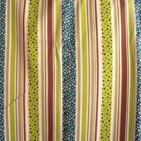 DANDELION csíkos, virágos spanyol lakástextil, 140 cm és 280 cm széles