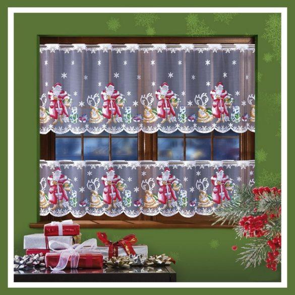 MIKULÁS, karácsonyi mintás, jacquard vitrázs függöny