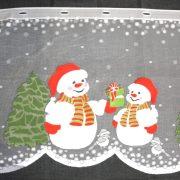HÓEMBER, karácsonyi mintás, jacquard vitrázs függöny