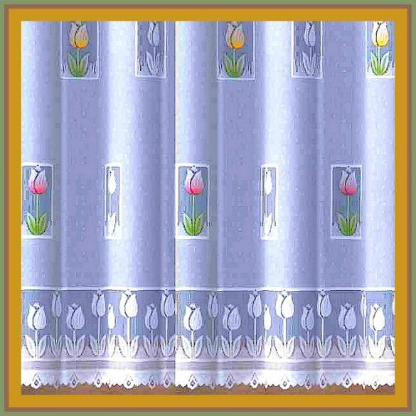 TULI, tulipán mintás függöny méteráru, 150 cm magas
