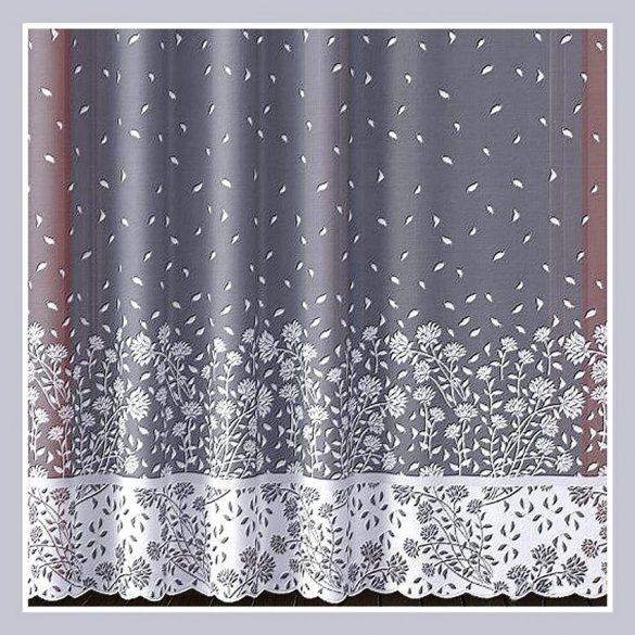 WILMA, bordűrös, virág mintás fényáteresztő jacquard függöny anyag - 250 cm magas