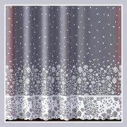 WILMA, bordűrös, virág mintás fényáteresztő jacquard függöny anyag - 250