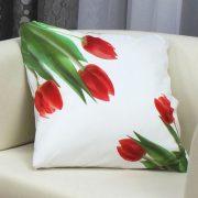 Tulipán, húsvéti, tavaszi díszpárnahuzat