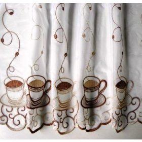Voile, hímzett vitrázsfüggöny anyagok