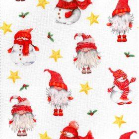 Karácsonyi mintás pamutvászon