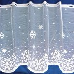 Karácsonyi, ünnepi mintás függöny, organza, taft dekoranyag