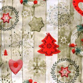 Karácsonyi mintás lemosható anyag, PVC