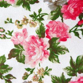 Virág mintás pamut vászon
