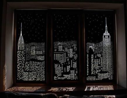 Sziluett blackout függöny