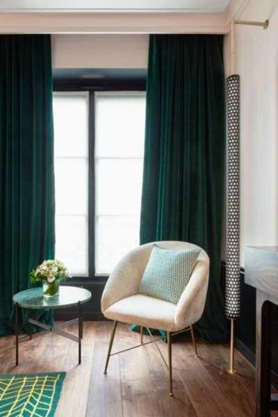 Sötétzöld dekorfüggöny