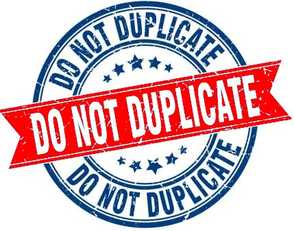 No duplication