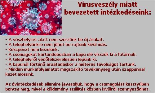 Antivírus intézkedések