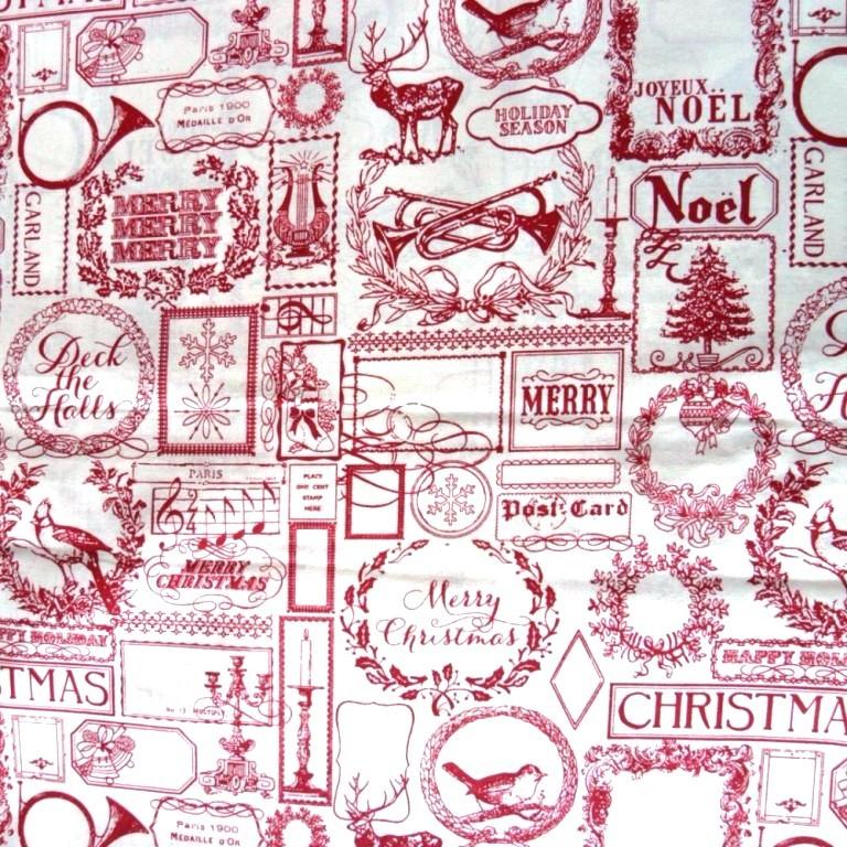 Karácsonyi mintás  lakástextil dekorációs anyag, szalagos